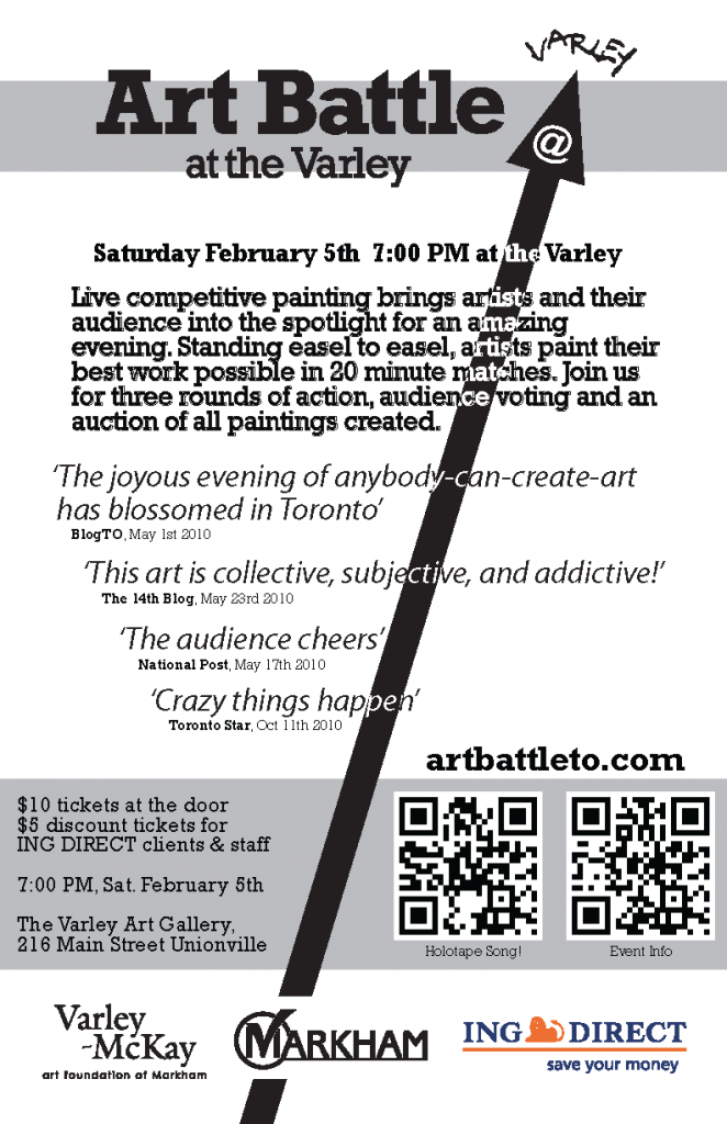 Art Battle at Varley Art Gallery